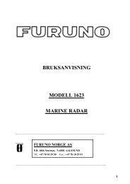 BRUKSANVISNING MODELL 1623 MARINE RADAR - Seatronic
