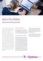 elform PrintToMail. - T - Systems International Gmbh