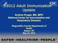 2012 Adult Immunization Update - Erie County