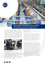 Case study : Traceability in Fresh Foods - GS1