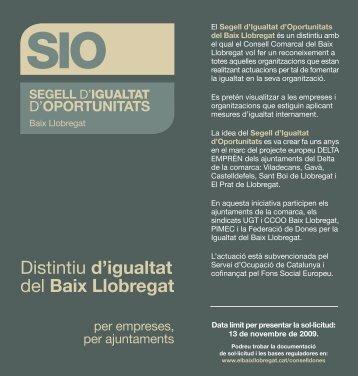 Distintiu d'igualtat del Baix Llobregat - Consell Comarcal del Baix ...