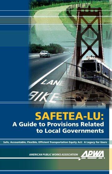 SAFETEA-LU: - American Public Works Association