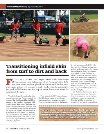 Transitioning infield skin from turf to dirt and back - About SportsTurf