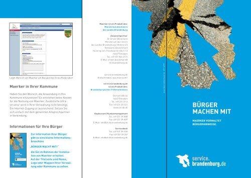 Bürger MAchen MIT - Maerker Brandenburg - Brandenburg.de