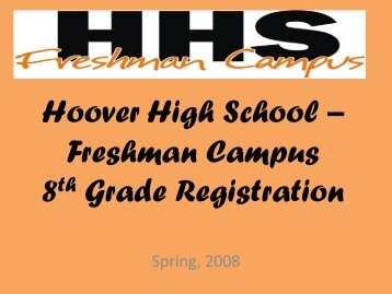 Course Selection PowerPoint - Hoover City Schools