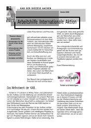 Arbeitshilfe Internationale Aktion