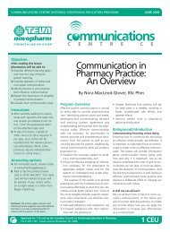 Communication in Pharmacy Practice: An Overview