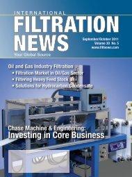 Oil & Gas   Filtration - Filtration News