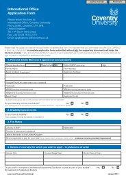 International Office Application Form