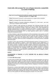 Carta delle Città Europee per un modello urbano sostenibile (1994)