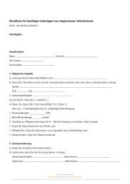 Checkliste für benötigte Unterlagen neu eingetretener Arbeitnehmer