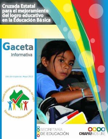 Descargar Gaceta - Secretaría de Educación del Estado de Chiapas