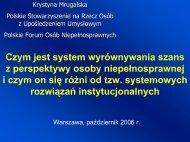 Czym jest system wyrównywania szans ... - Ministerstwo Pracy i ...