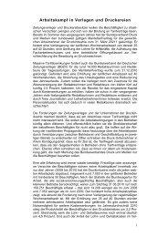 Arbeitskampf in Verlagen und Druckereien - Welt der Arbeit