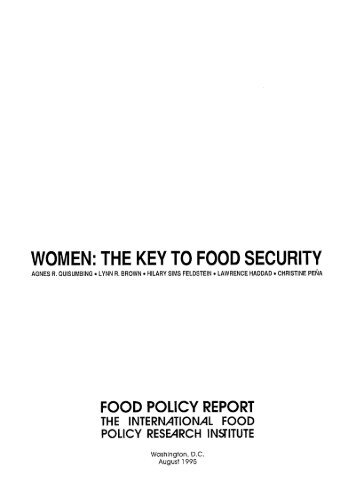 The Key to Food Security - International Food Policy Research Institute