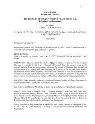 JOHN MOORE, Plaintiff and Appellant, v. THE REGENTS OF THE ...