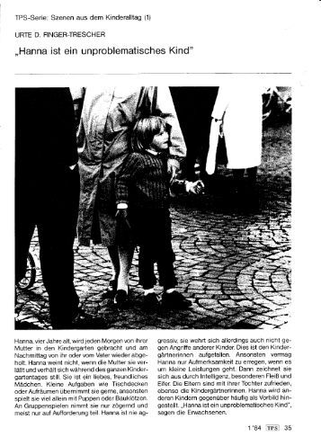 Szenen aus dem Kinderalltag - Prof. Dr. Christian Büttner