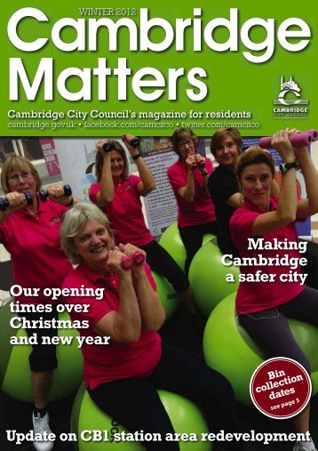 Winter 2012 [PDF, 4.2MB] - Cambridge City Council