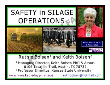 SAFETY in SILAGE OPERATIONS