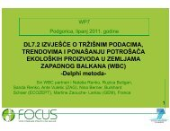 Delphy research method, trends in organic market ... - Focus-Balkans