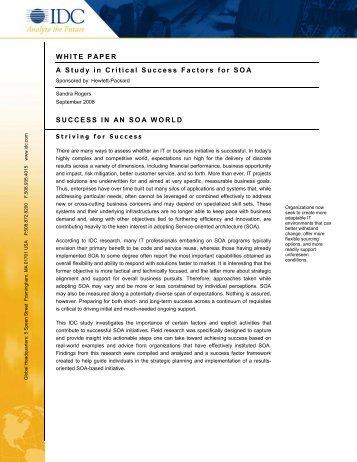 WHITE PAPER A Study in Critical Success Factors for ... - ZeroUno