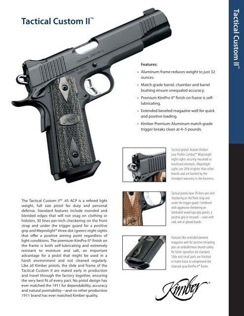 Tactical Custom II - Kimber
