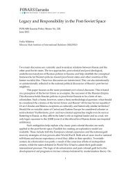 Legacy and Responsibility in the Post-Soviet ... - PONARS Eurasia