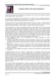 L'impianto elettrico nello studio odontoiatrico - Ordine dei Medici di ...