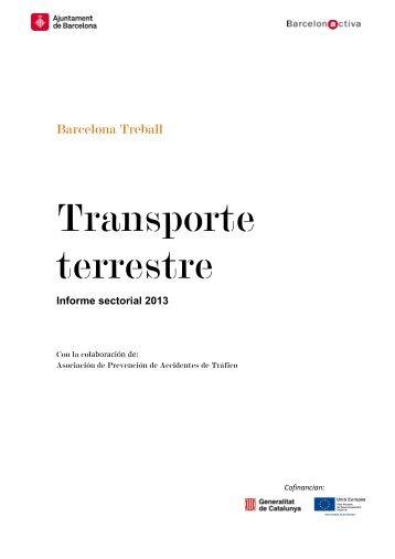 Informe sectorial: Transporte terrestre - Barcelona Treball