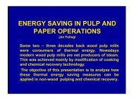 ENERGY SAVING IN PULP AND PAPER OPERATIONS - sesec