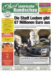 Die Stadt Leoben gibt 87 Millionen Euro aus - Obersteirische ...