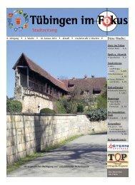 Ausgabe 10. Januar 2014 - Tübingen im Fokus
