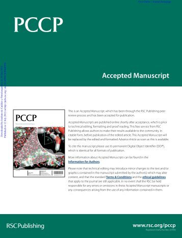Accepted Manuscript - Department of Chemistry