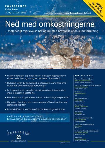 Ned med omkostningerne - IBC Euroforum