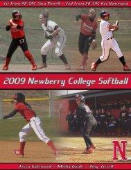2009 Softball Media Guide