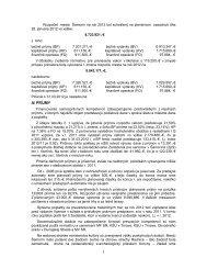 Vyhodnotenie plnenia rozpočtu mesta na rok 2012 ... - Mesto Šamorín