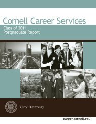 Class of 2011 Postgraduate Report - Cornell Career Services ...