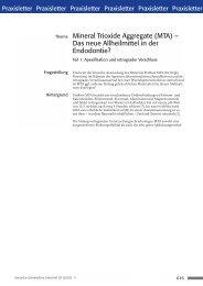 Mineral Trioxide Aggregate (MTA) – Das neue ... - Zahnheilkunde.de