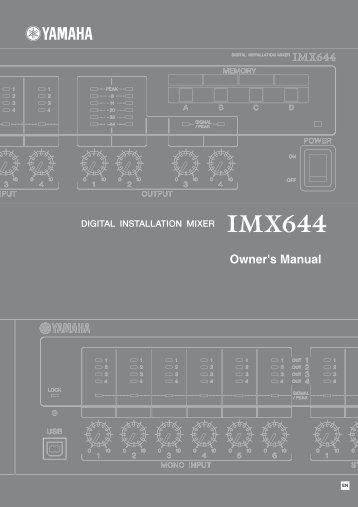 Yamaha imx644 manual - Full Compass