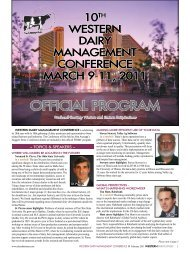 official program - Western Dairy Management Conference