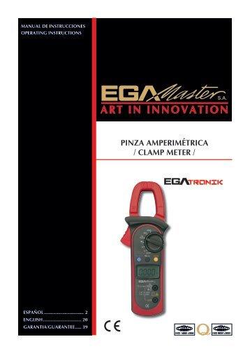 PINZA AMPERIMÉTRICA / CLAMP METER / - Ega Master