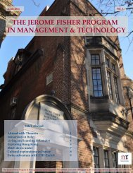 Jerome Fisher Program in Management & Technology