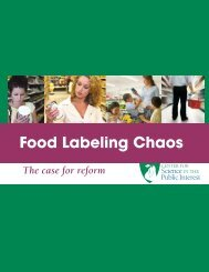 Food Labeling Chaos - Center for Science in the Public Interest
