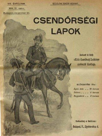 CSENOORSÉGI - Magyar Királyi Csendőrség