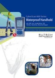 CyberScan 600 Series Waterproof Handheld Family Brochure - Eutech