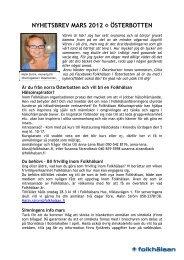 NYHETSBREV MARS 2012 ÖSTERBOTTEN - Folkhälsan