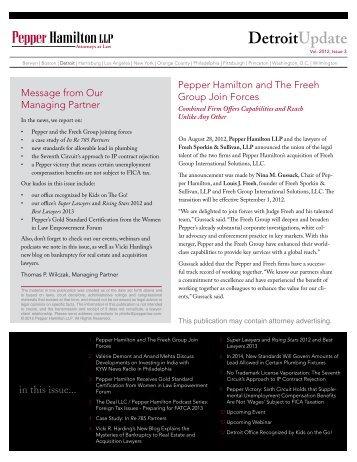 Products Liability/Mass Torts - Pepper Hamilton LLP