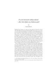 eller Nils Hybel som Sheherazade? - Historisk Tidsskrift