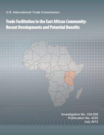 Trade Facilitation in the East African Community - United States ...