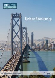 Valuation of Business Restructuring - TPA Global
